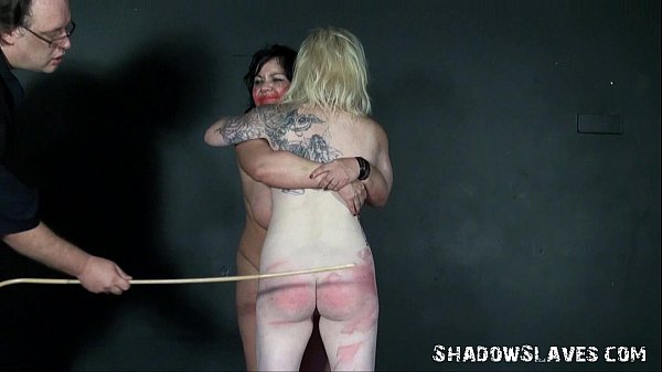 Spanking two amateur slavegirls and hardcore co...