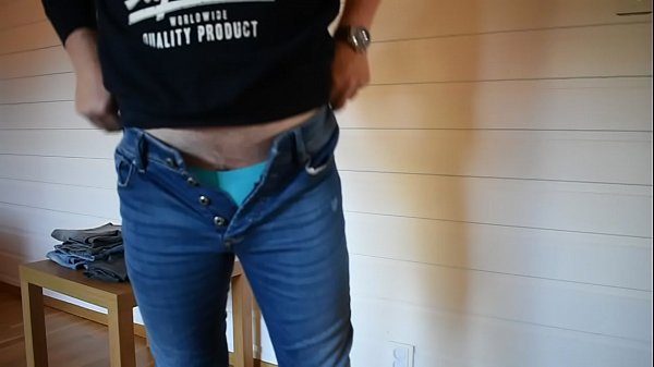 Trying on tight jeans Thumb