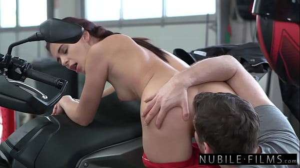 Petite Brunette Kate Rich Rides BF Cock In Sens...