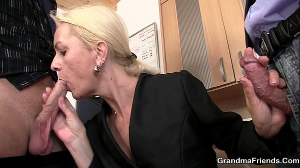 Her job interview leads to threesome