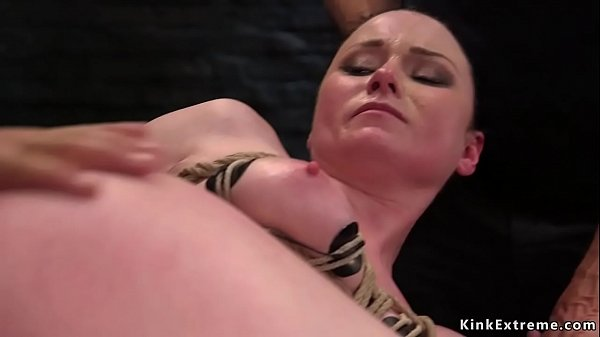 Anal and pussy threesome bdsm fuck