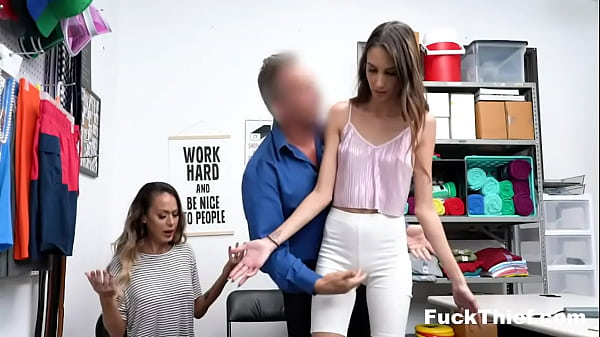Hot Mom and Step Daughter Strip Searched and Fucked By Security Officer