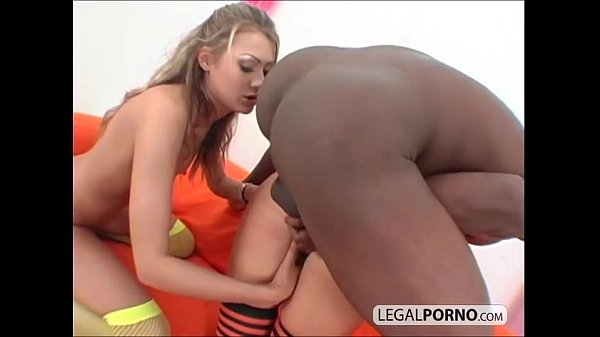 Interracial threesome with two sexy young babes PP-2-03