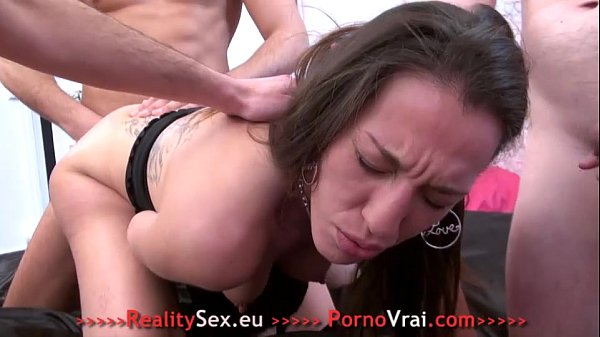 Beurette sodo anal en Gang Bang ! French amateur