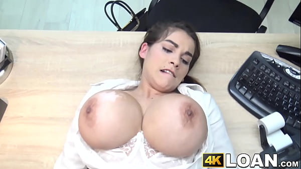 Busty babe seduces rough fucking businessman with big tits