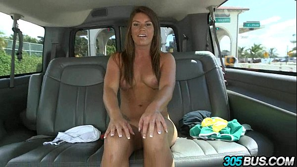 Athletic babe gets fucked in the ass on the 305bus 2.2 Thumb