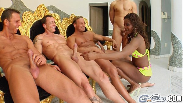 Cum For Cover Cream shower by these four cocks for Jasmin