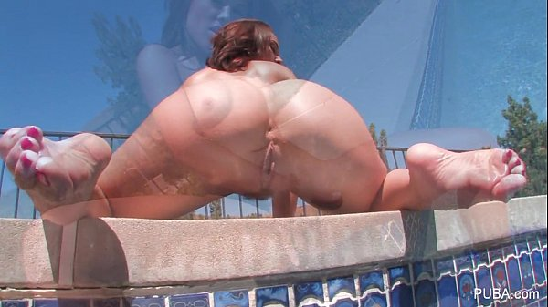 Kristina Rose plays with her coochie