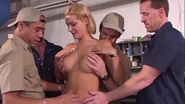 Hot Big Tit Blonde Gangbang Thumb