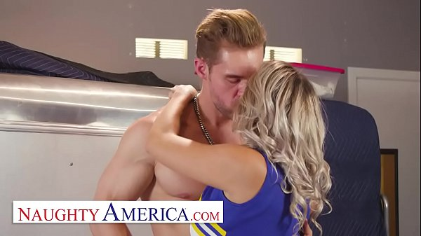 Naughty America - Harmony Rivers gives her friend's brother a goodbye fuck