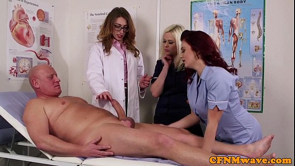 Femdom CFNM doctor sucking patients bigcock