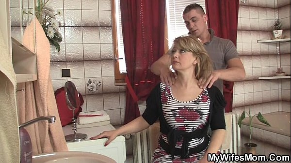 Image Mom rides son in law cock and his wife comes