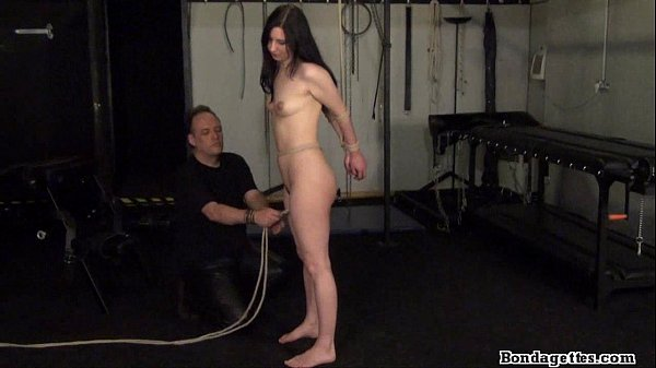 Rope bondage of Honesty Cabellero in erotic domination and tied up amateur