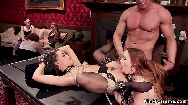 Gag dick and anal fucking bdsm orgy