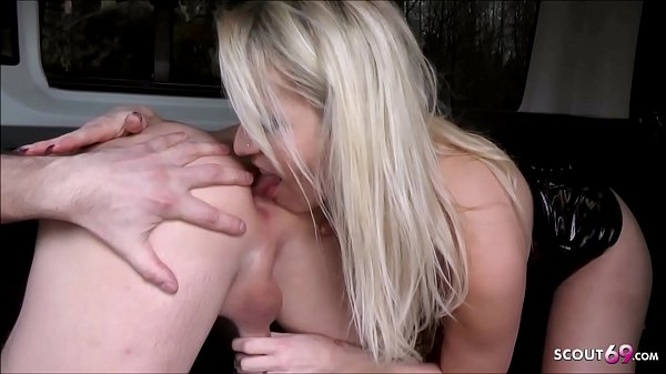 German Wife Car Fuck with Hitchhiker Boy and give him Rimjob Final to Cum good Thumb