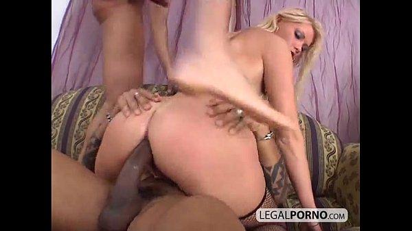 Hot blonde gets fucked and double-penetrated by two big cocks HC-17-01 Thumb