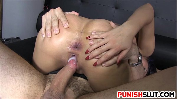 Submissive Slut Treated To Anal Fuck And Pussy Creampie Thumb