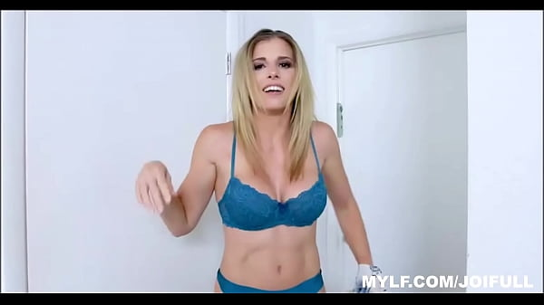Horny Blonde MILF Stepmom Giving JOI And POV Simulating Sex With You thumbnail