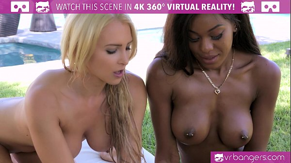 VRBangers.com Alix Lynx And Nadia Jay SUCK And RIDE WHITE COCK By The Pool