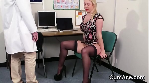 Wicked doll gets cum shot on her face eating all the semen