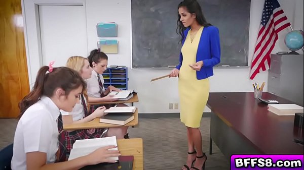 Naughty lesbian students fuck r. for teacher