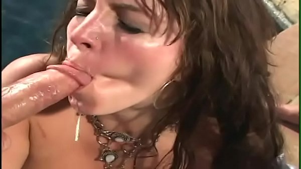 Exotic sultry minx with nice boobs sucks two cocks the gets double penetrated at the perfect place near by the pool