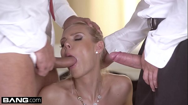 Glamkore - Czech Blonde with big tits has a dp threesome Thumb