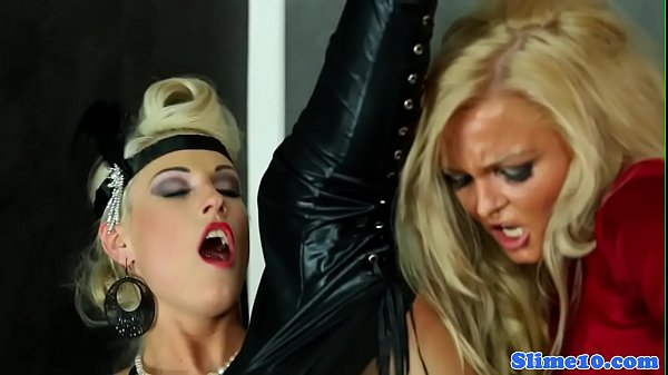 Glamorous lesbo babes drenched with cum Thumb