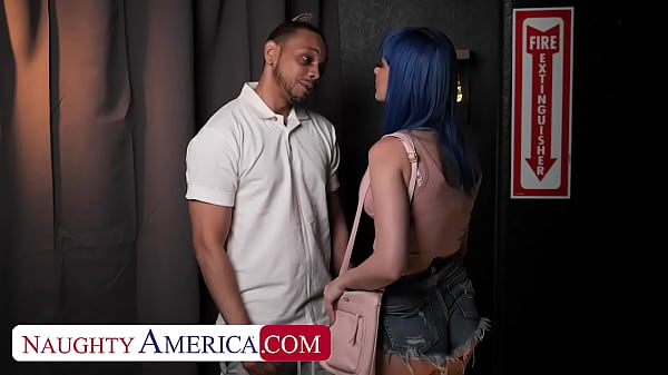 Naughty America - Blue haired beauty, Jewelz Blu, meets up with her random fuck