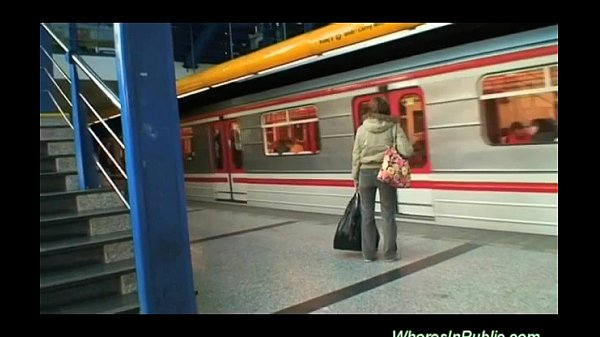 Young Couple Fucking At The Bus Station