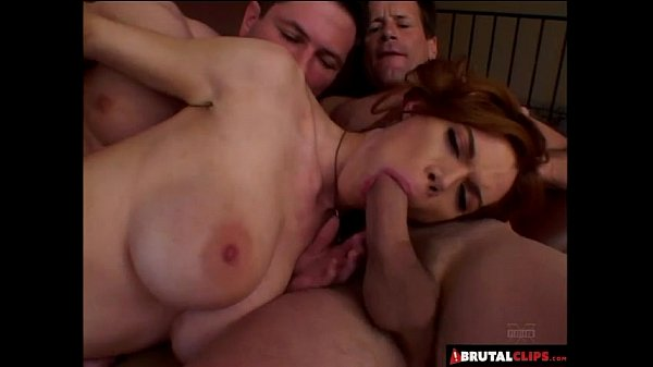 BrutalClips - Dirty Redhead Gets Double Penetrated