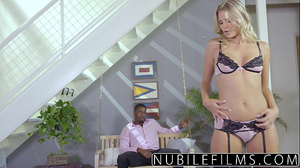 Sexy Blondes Interracial Fuck With Daddys Friend