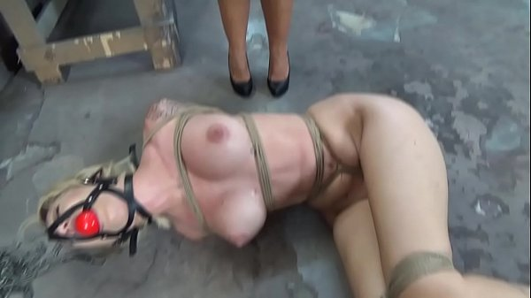 Dumb Reagan Lush is strictly bound and ball gagged in the basement while struggling