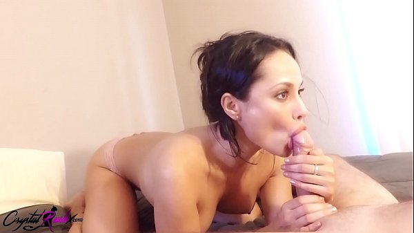 Sexy Brunette Sloppy Blowjob - Closeup Thumb