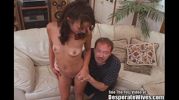 Skinny Wife Fucked and Filled With Cock