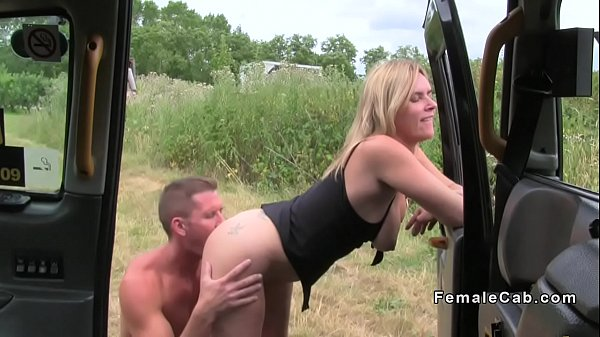 Guy bangs busty blonde female fake taxi driver Thumb
