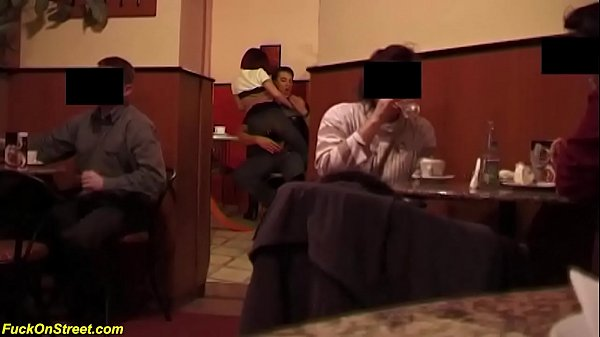 brutal anal sex in a public coffee shop