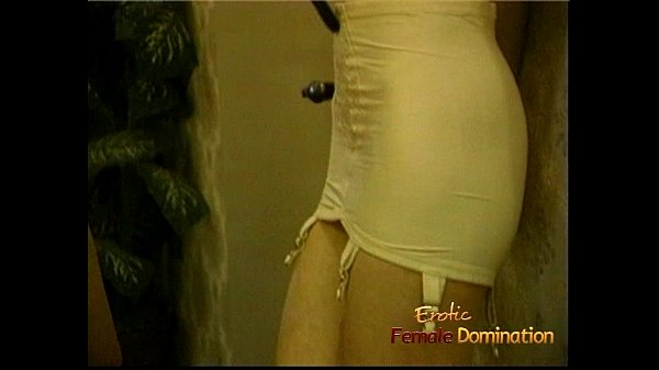 Tall blonde dominatrix has some kinky fun with two sexy harlots Thumb