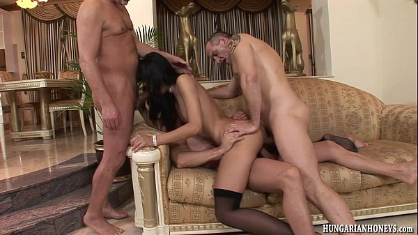 Euro babe ass fucked by 3 guys in gangbang Thumb