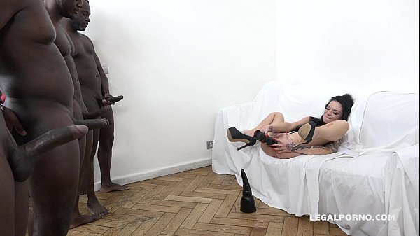 Tattooed Nympho Inga Devil gets fucked like a whore by 4 BBC's!