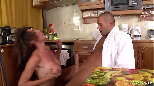 Busty lovers Ava Koxxx practices her oral skills on a banana and a big dick