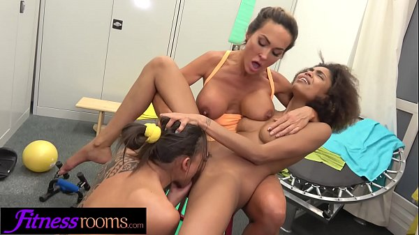 Fitness Rooms Butch Aubrey Black threesome with Luna Corazon and Cassie Del Isla