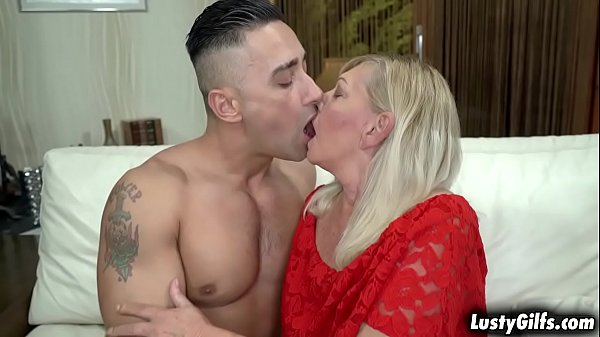 Hot grandma Irene wants to feel youthful by fucking with this horny bstud Mugur and getting drilled by his huge rock hard dick.