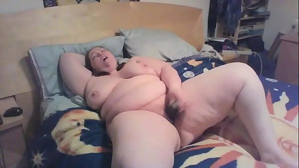 22 yr old bbw on bed having an orgasm of her li...
