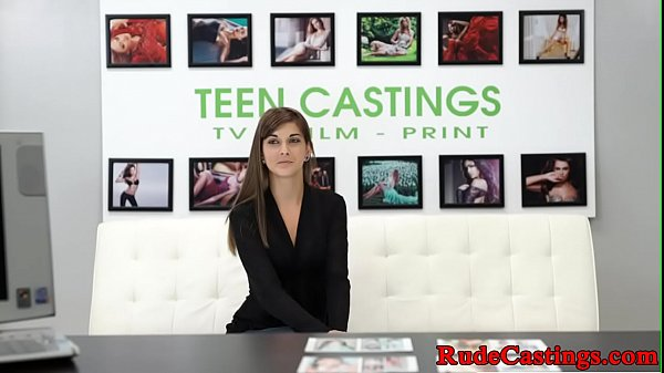 Roughfucked teen beauty fucked at casting