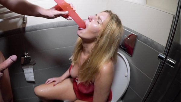 Piss Drinking, Deepthroat Puke Humiliation with d. Slut in the toilet Thumb