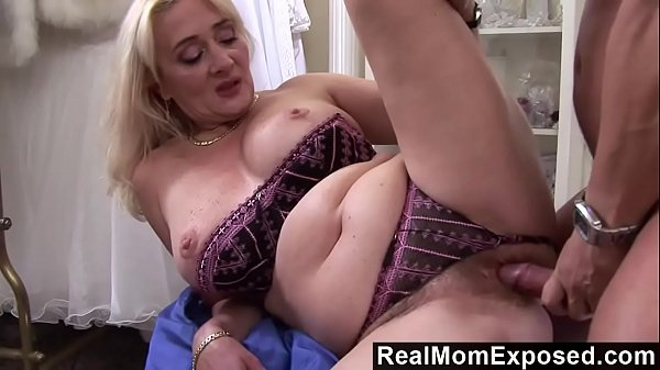 RealMomExposed - Lascivious milf gets her hairy pussy stuffed with cock Thumb