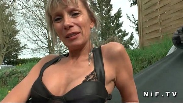 Big boobed french cougar hard anal fucked by a ...