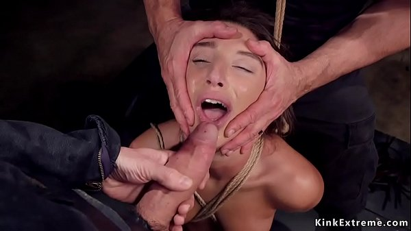 Teen slave is anal toyed abd nailed