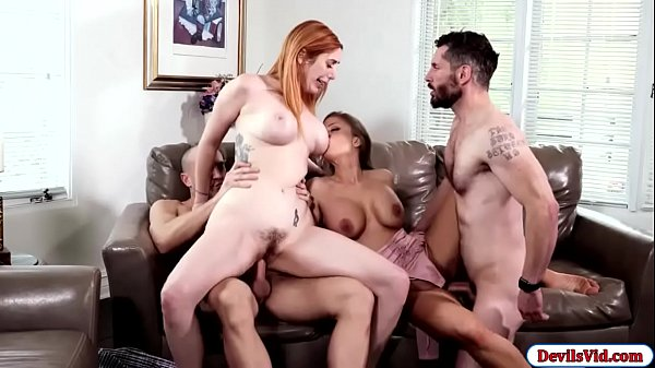 Horny wives fucking each others partner